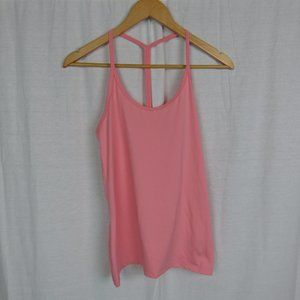 Nike Women's Pink T Strap Scoop Neck Tank Top